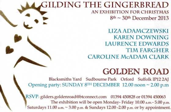 GILDING THE GINGERBREAD invitation