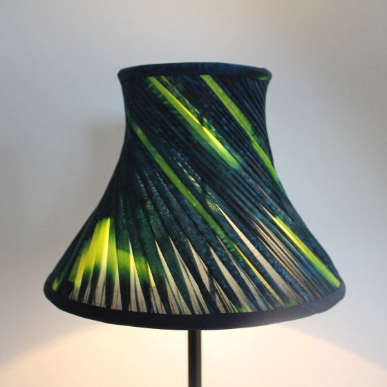 emerald pleat shade on