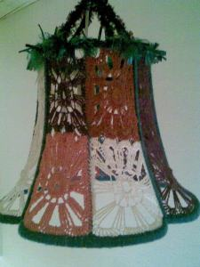 sharah's crochet lampshade